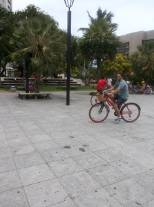 Aprendendo a pedalar na Shamira