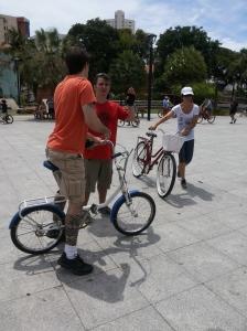 Bike Anjo trabalhando