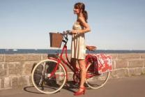 cesto al forge bicicleta De Bike na Cidade Sheryda Lopes vermelho