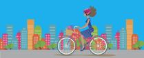 Capa Facebook Blog De Bike na Cidade Sheryda Lopes por Caroline Tavares