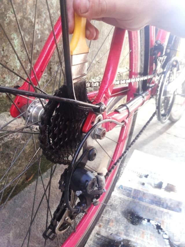 Limpeza corrente bicicleta Wladimir Lessa De Bike na CIdade Sheryda Lopes (5)
