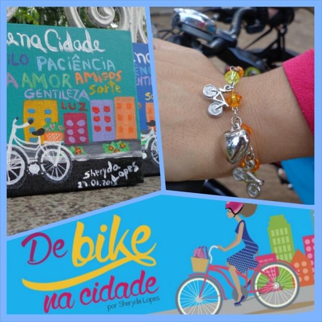 Arte da vitrine promoção de bike na cidade pulseira tela bicicleta sheryda lopes