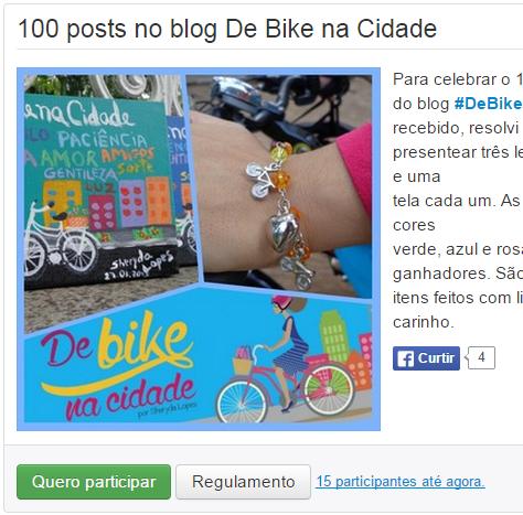 Clique em Quero Participar De Bike na Cidade Sheryda Lopes