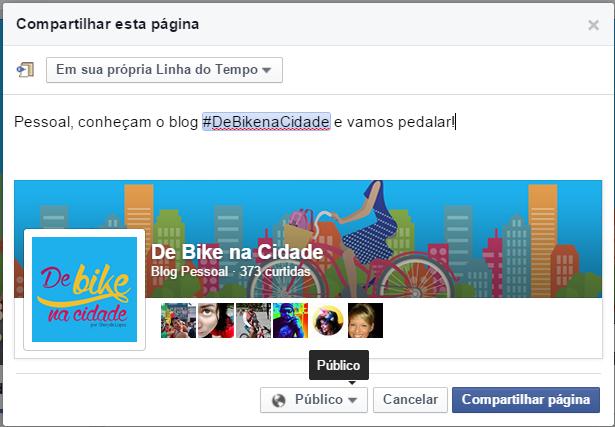 COmpartilhar como público De Bike na Cidade Sheryda Lopes