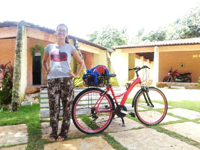 calça estampada blusa minnie De Bike na Cidade Sheryda Lopes (1)