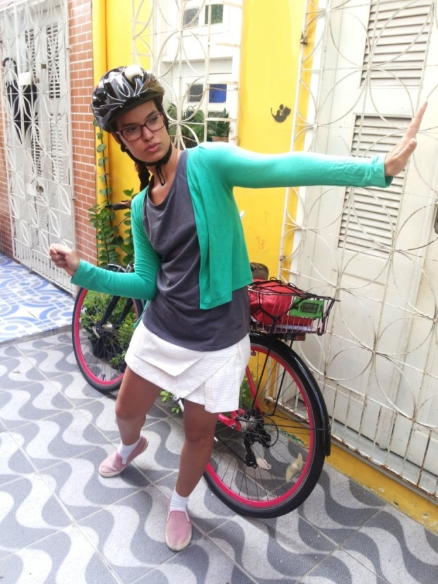 De Bike na Cidade_ Look Cyclechic_ short saia by francisco Barbosa  (1)