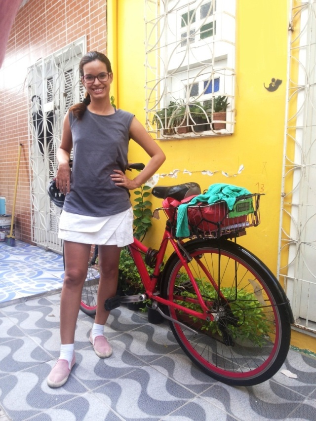 De Bike na Cidade_ Look Cyclechic_ short saia by francisco Barbosa  (2)