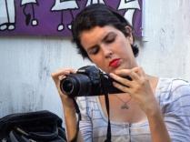 Rosana Reis registrando tudo
