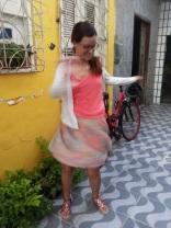 De Bike na Cidade Look casaquinho de poá (4)