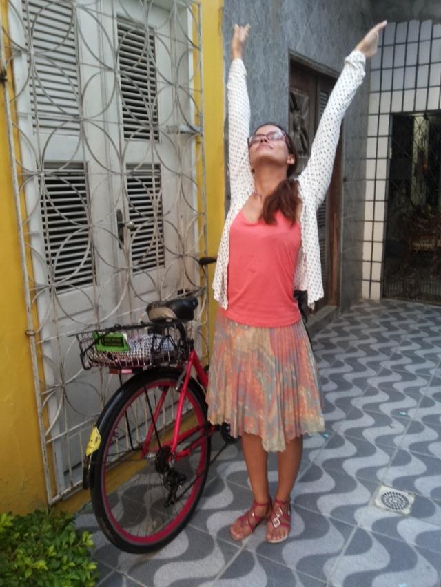 De Bike na Cidade Look casaquinho de poá  (6)