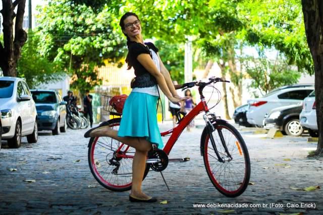 Look cycle chic saia azul bolero preto by Caio Erick blog De Bike na Cidade Sheryda Lopes (2)