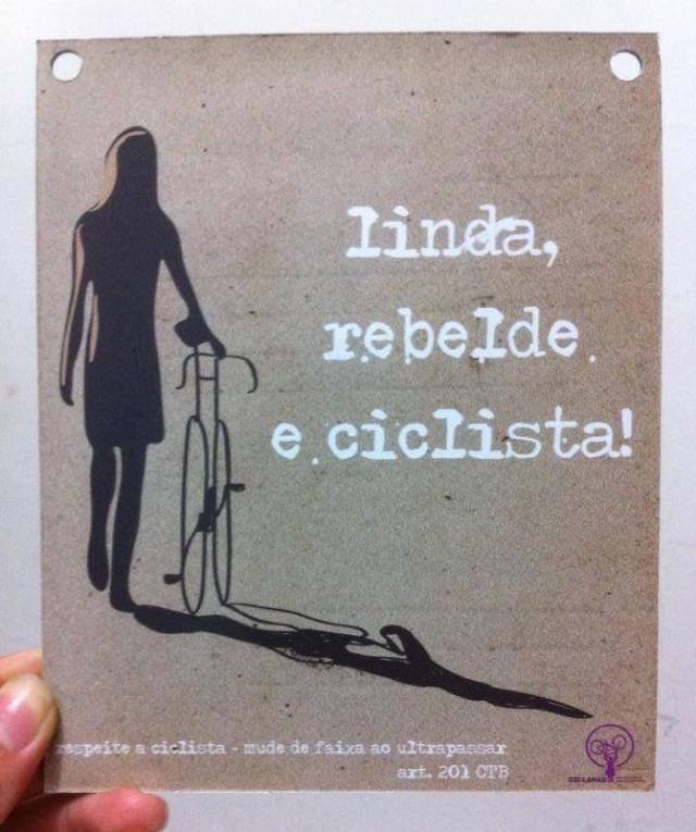 Plaquinha Ciclana usada -   R$ 10.00