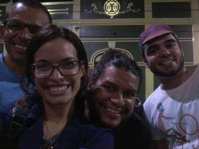 Paulo Aguiar, do Pedala Manaus; Ênio Paipa, Bike ANjo de Recife e Arthur Costa, presidente da Ciclovida (Fortaleza) toparam uma fotinha comigo