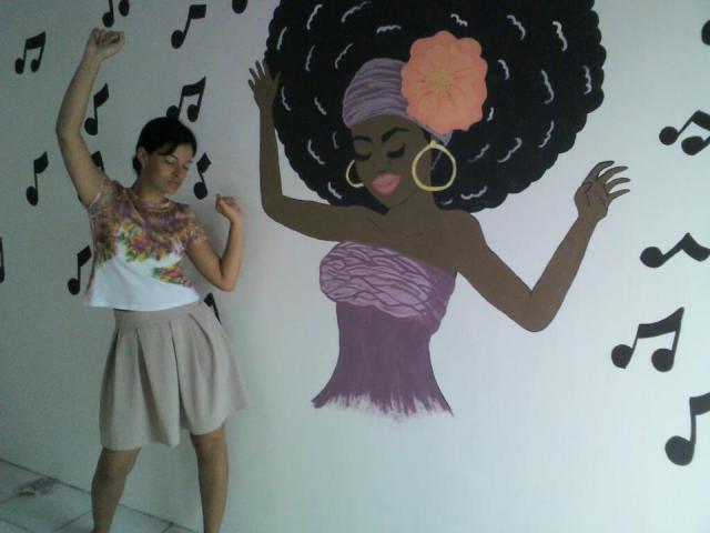 De Bike na Cidade Sheryda Lopes Sherdesenhando aquarela parede grafite (3)