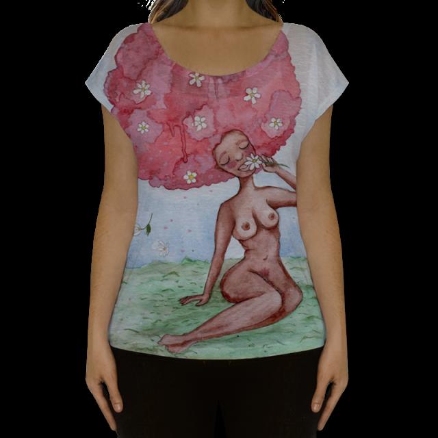 negra rosa camiseta full print sheryda lopes